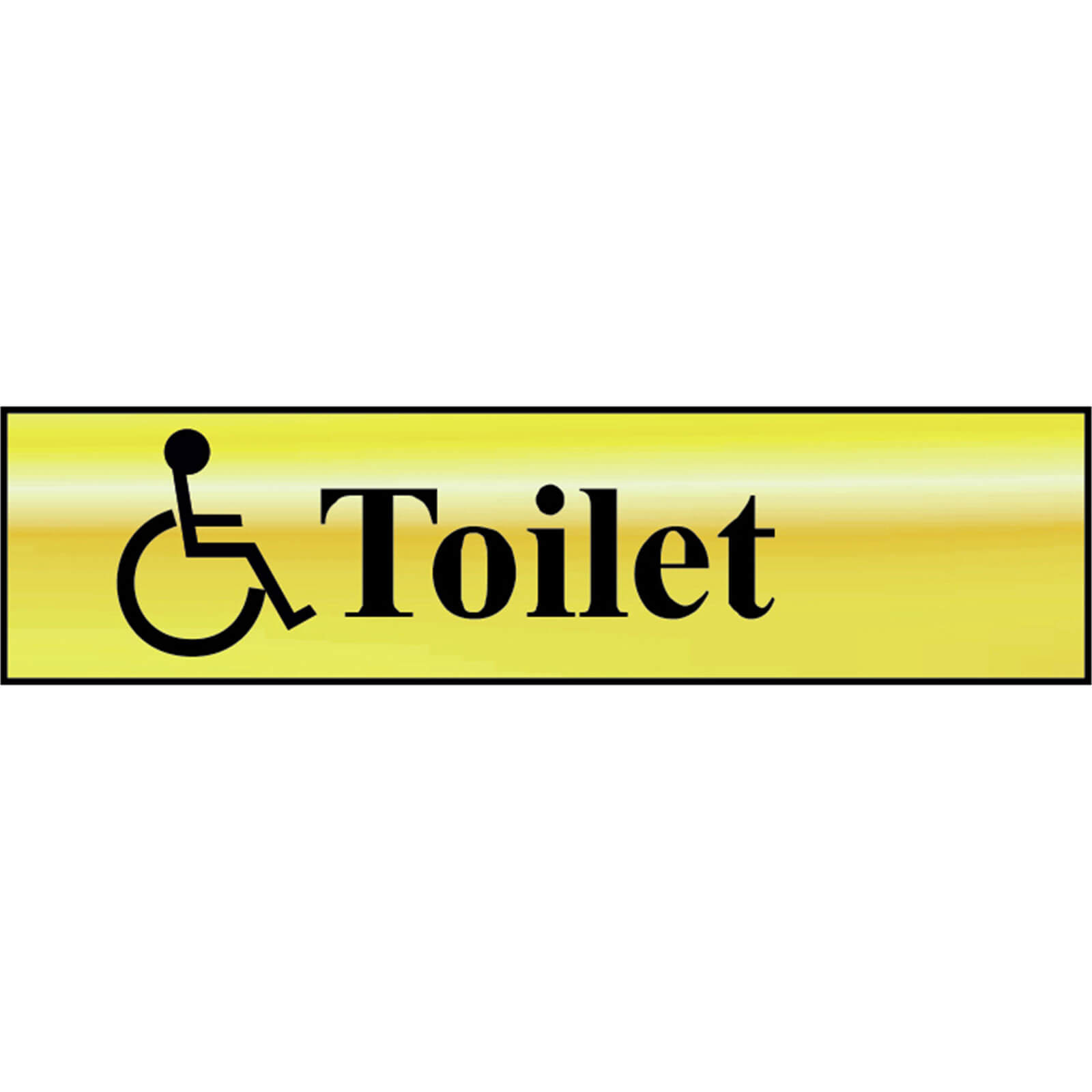 Image of Scan Brass Effect Disabled Toilet Sign 200mm 50mm Standard