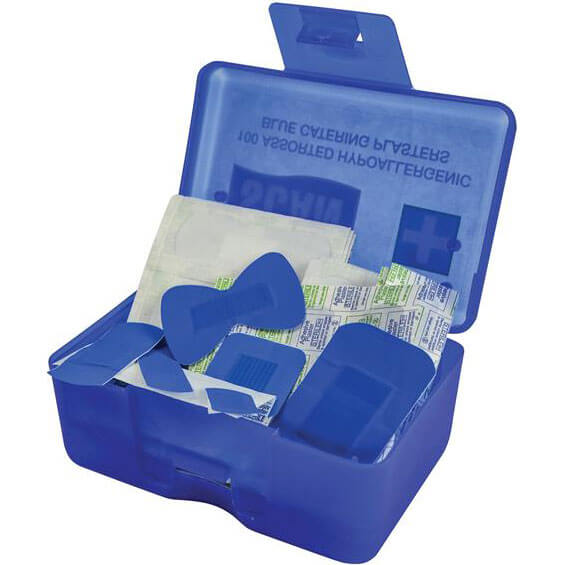 Image of Scan Assorted Hydroscopic Blue Plasters Pack of 100