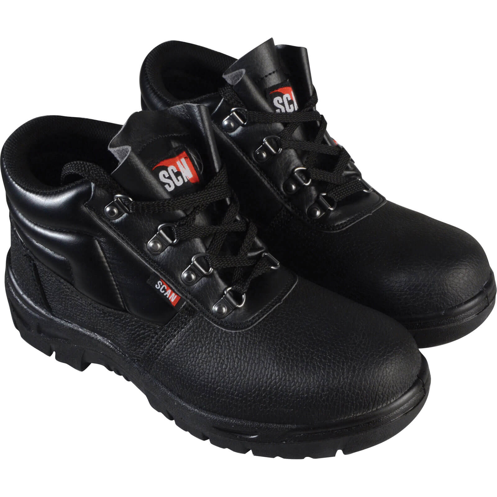 Image of Scan Mens Dual Density Chukka Safety Boots Black Size 10