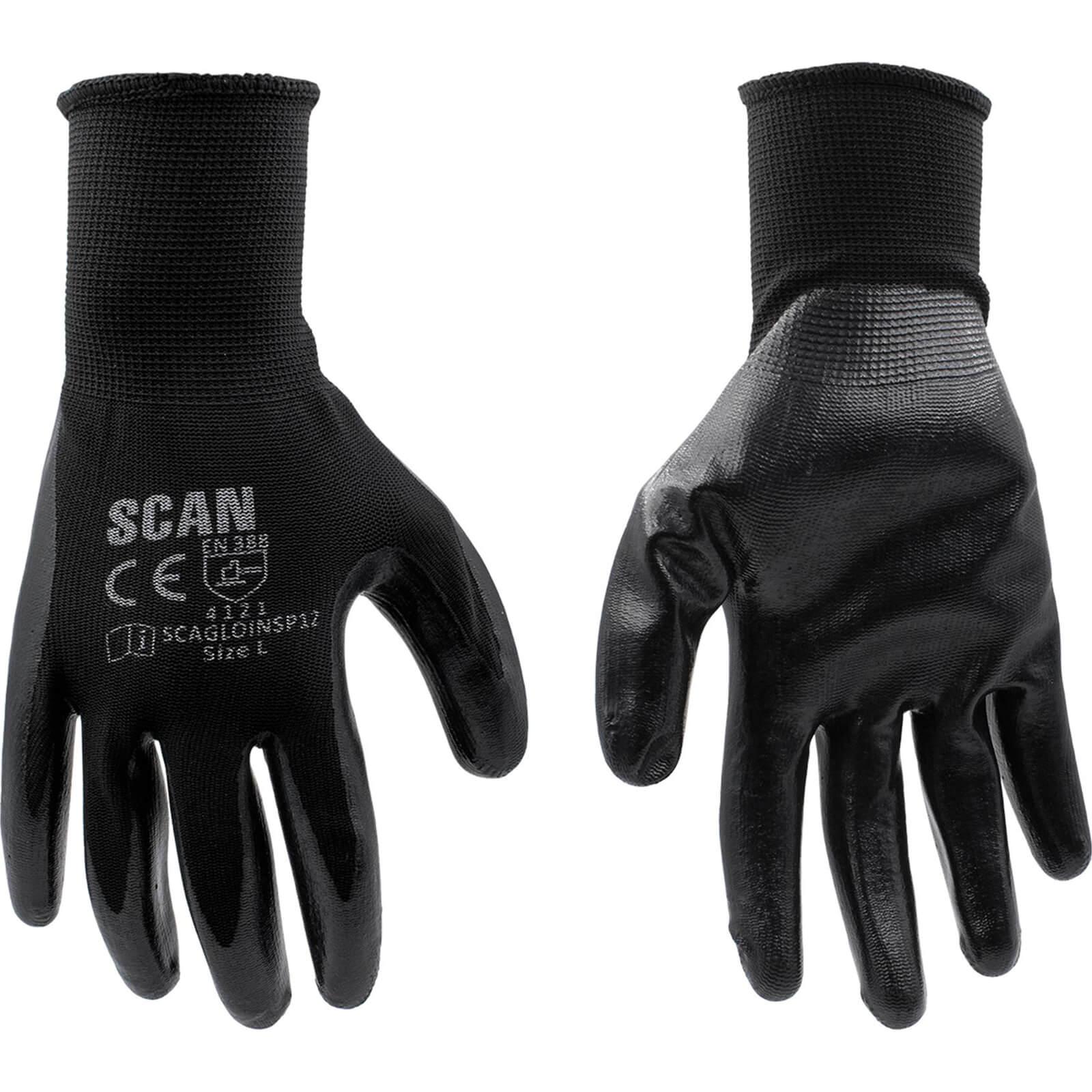 Image of Scan Inspection Gloves Black Pack of 12 L