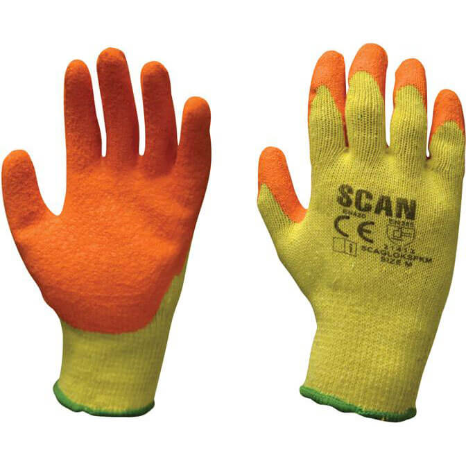Image of Scan Knit Shell Latex Palm Gloves One Size