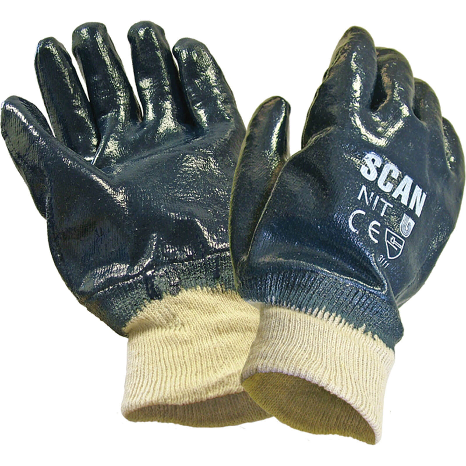 Image of Scan Nitrile Heavy Duty Gloves One Size