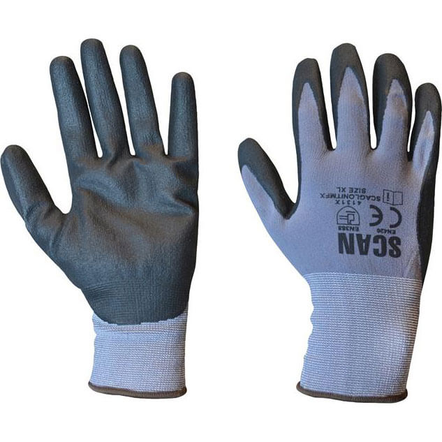 Image of Scan Breathable Microfoam Nitrile Gloves Grey XL