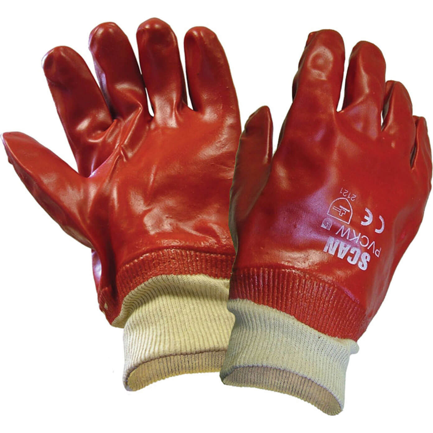 Image of Scan PVC Knitwrist Glove One Size