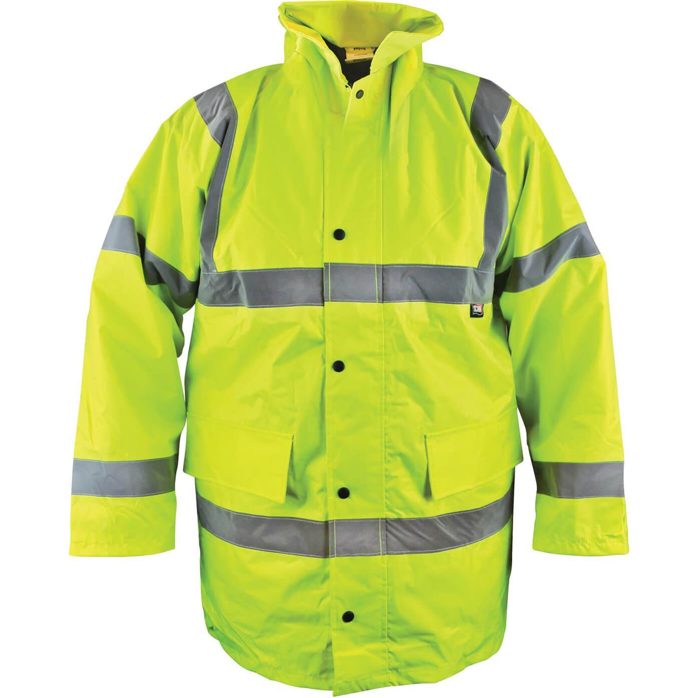 Image of Scan Hi Vis Motorway Jacket Yellow L