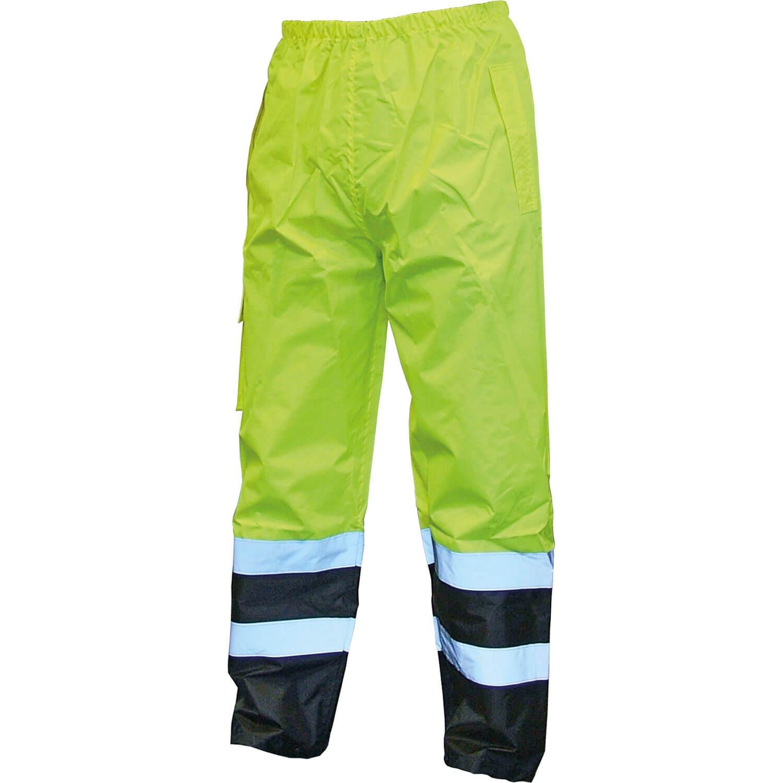 Image of Scan Hi Vis Waterproof Motorway Trousers Yellow / Black L