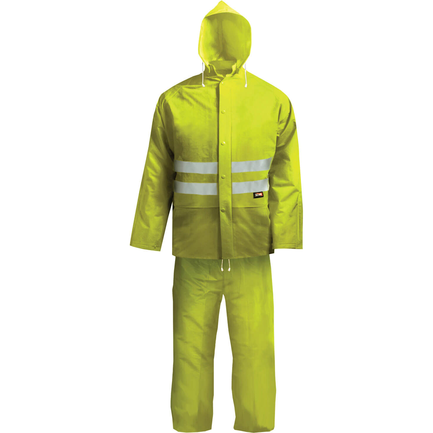 Image of Scan Hi Vis 2 Piece Waterproof Rain Suit Yellow 2XL