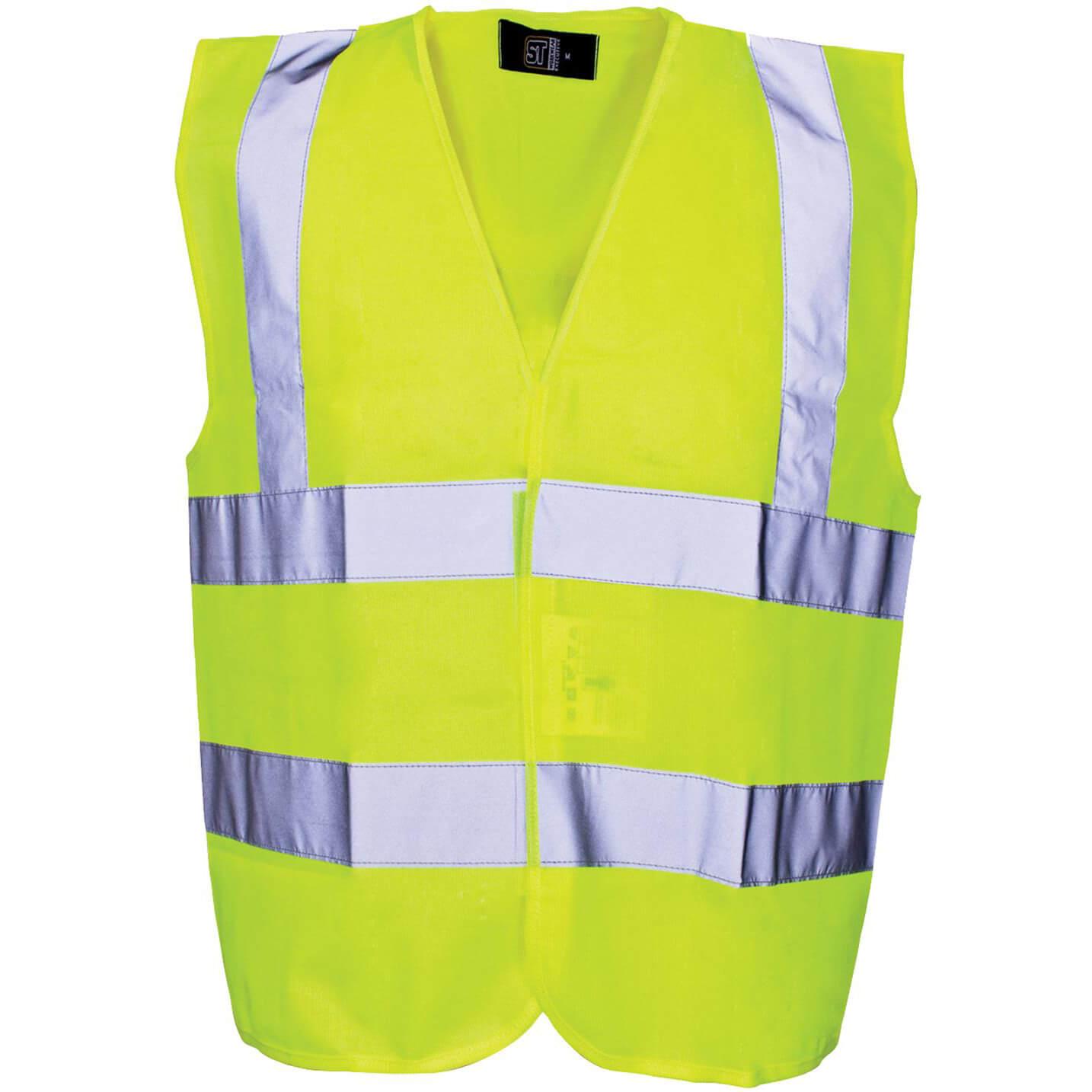 Image of Scan Childrens Hi Vis Waistcoat EN471 Class 2 Yellow 10 - 13