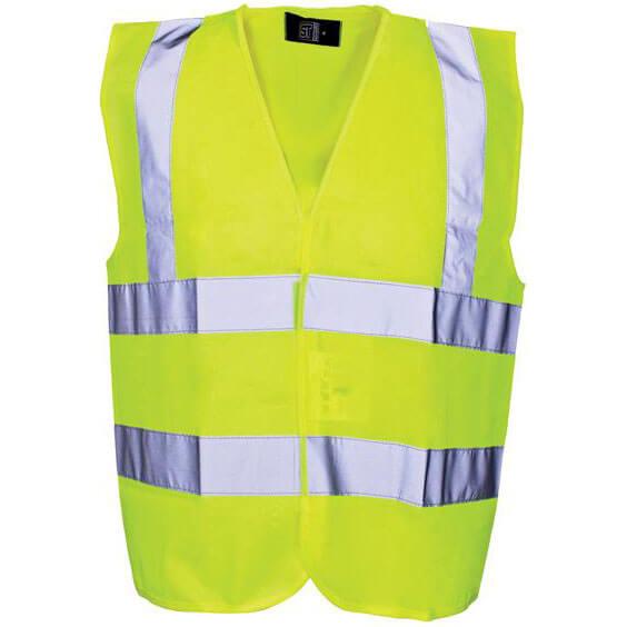 Scan Childrens High Vis Waistcoat EN471 Class 2 Yellow 7 - 9