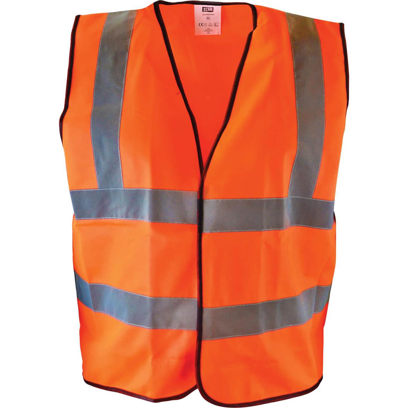 Image of Scan Hi Vis Waistcoat Orange L