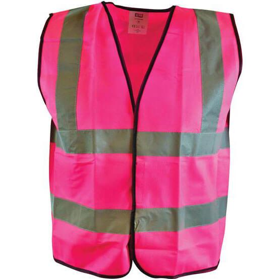 Image of Scan Hi Vis Waistcoat Pink L