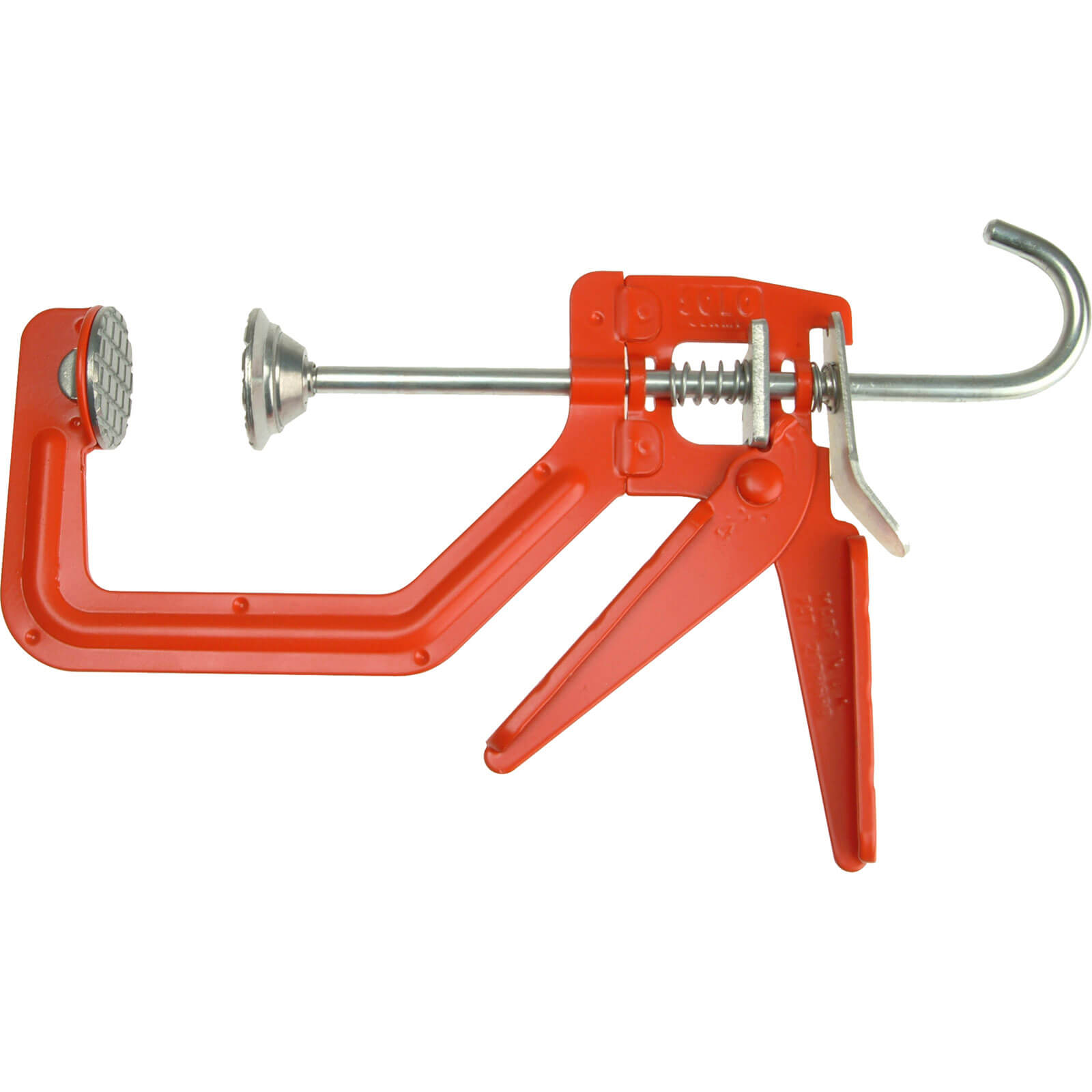 Image of Cox Solo One Handed G Clamp Metal feet 100mm