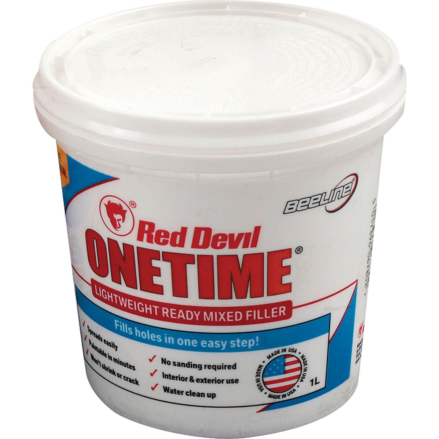 Image of Red Devil Onetime Ready Mixed Filler 1l
