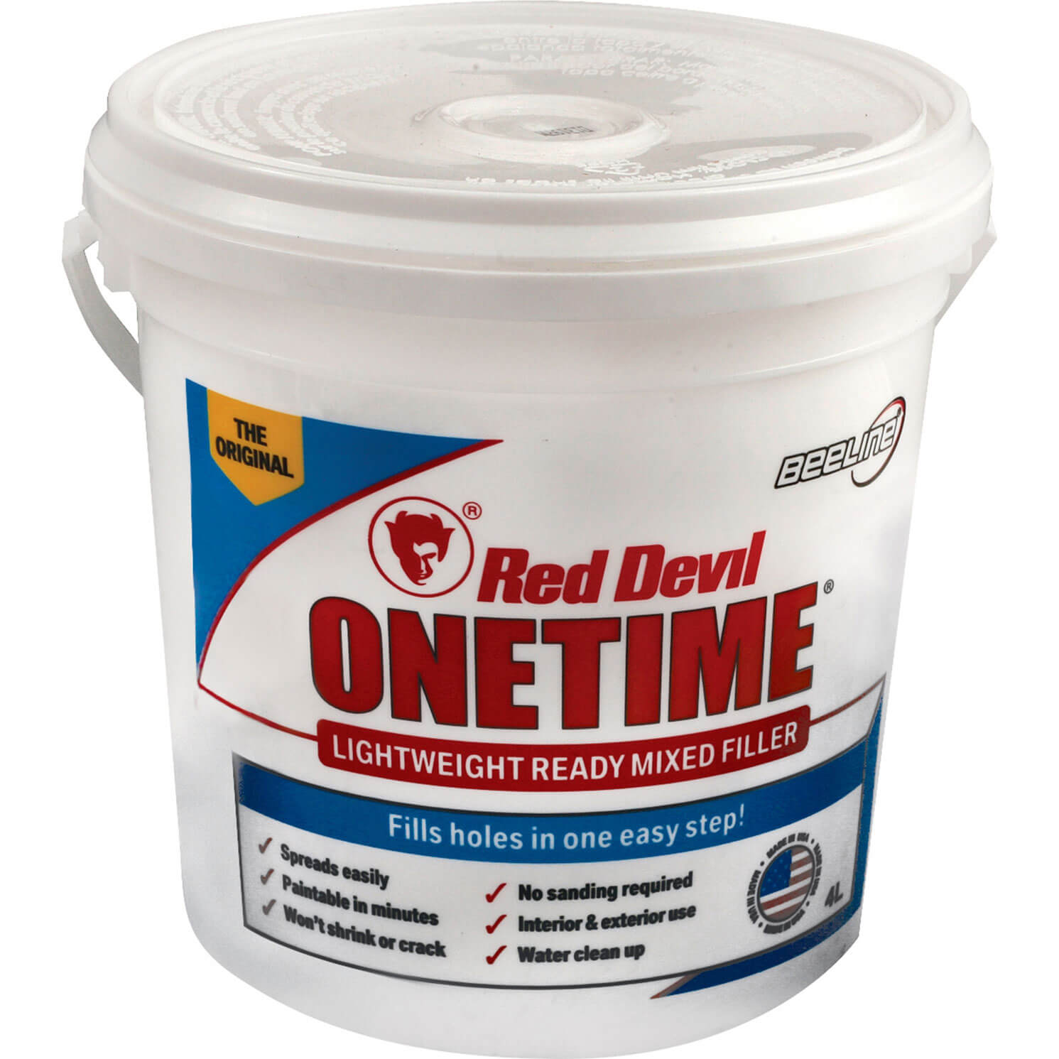 Image of Red Devil Onetime Ready Mixed Filler 4l