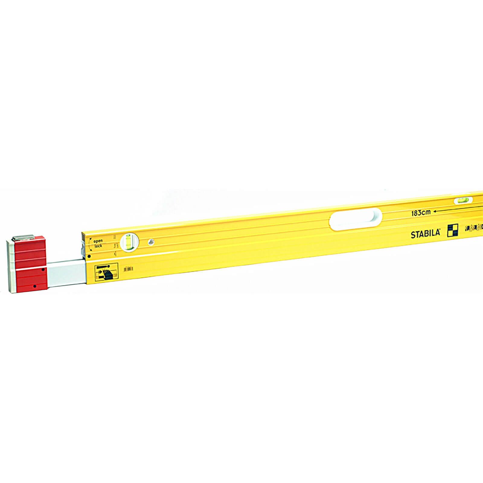 """Image of Stabila 106T Extendable Spirit Level 148"""" / 376cm"""