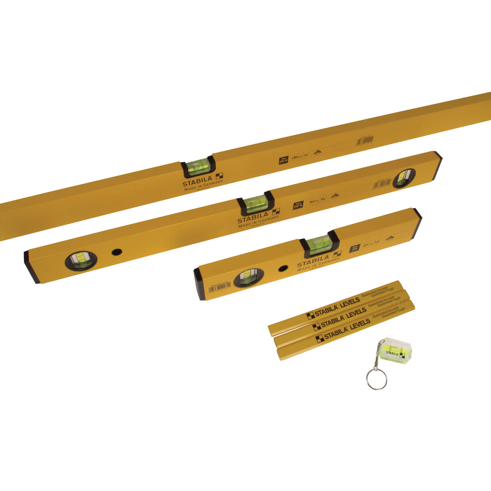 Stabila 5 Piece 70 2 Series Combi Spirit Level Set