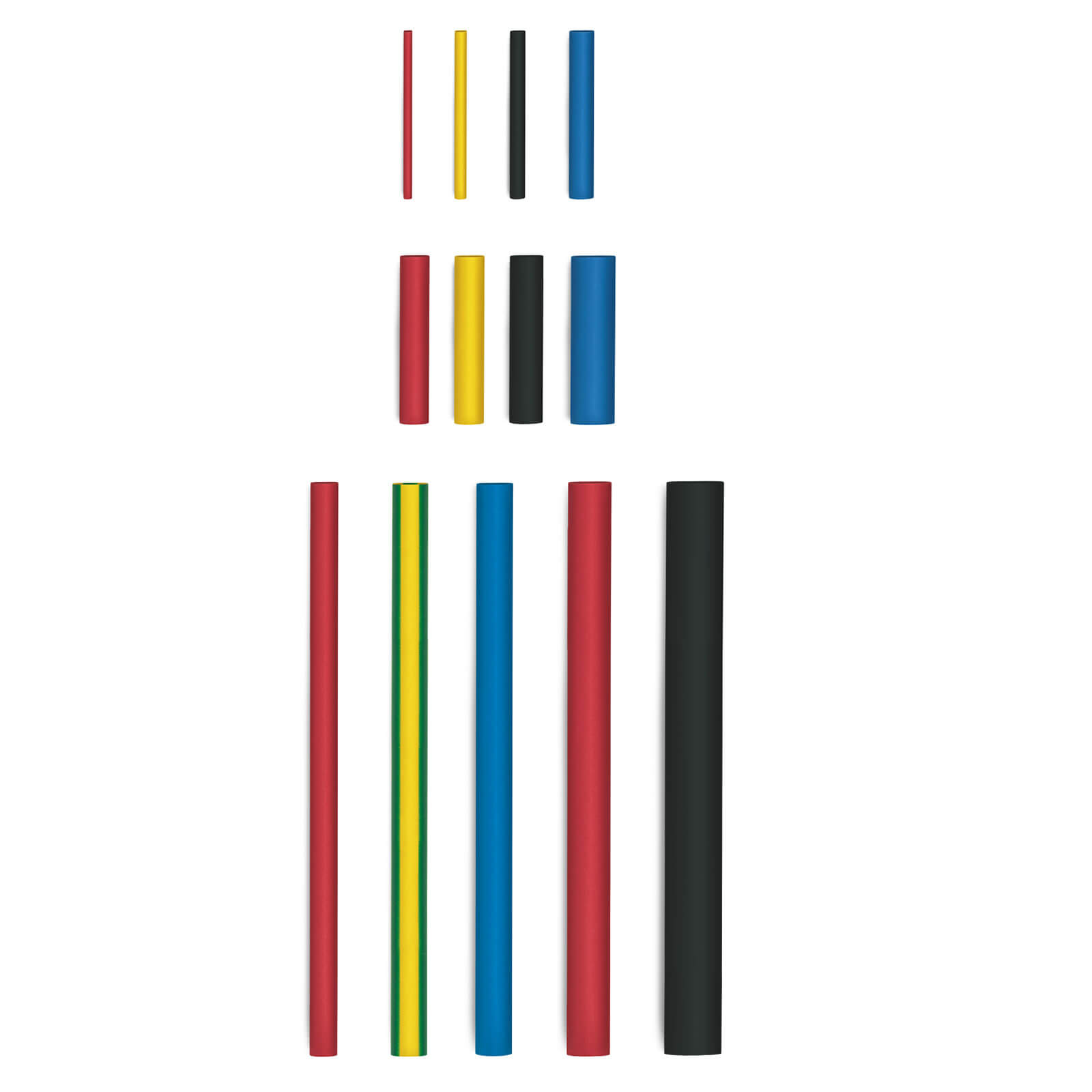 Image of Steinel 20 Piece Mixed Extra Wide Heat Shrink Tube Set