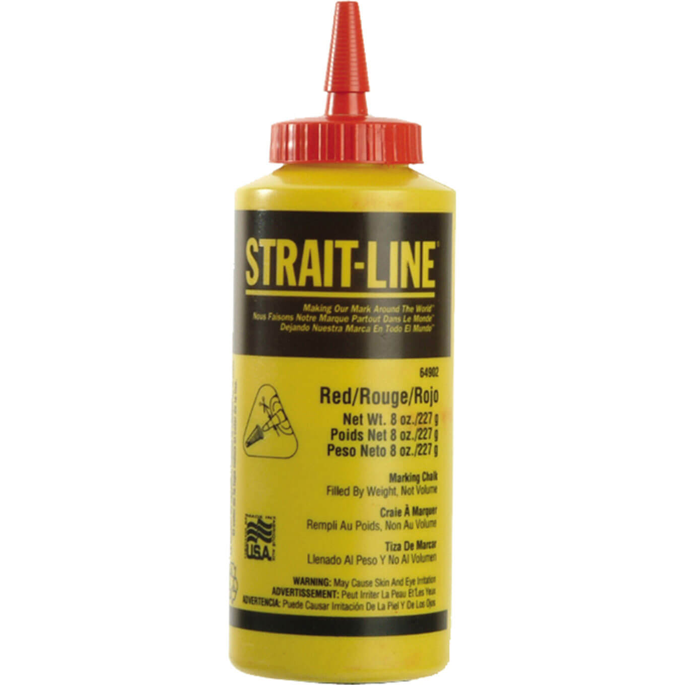 Image of StraitLine Chalk Refill Permanent Red