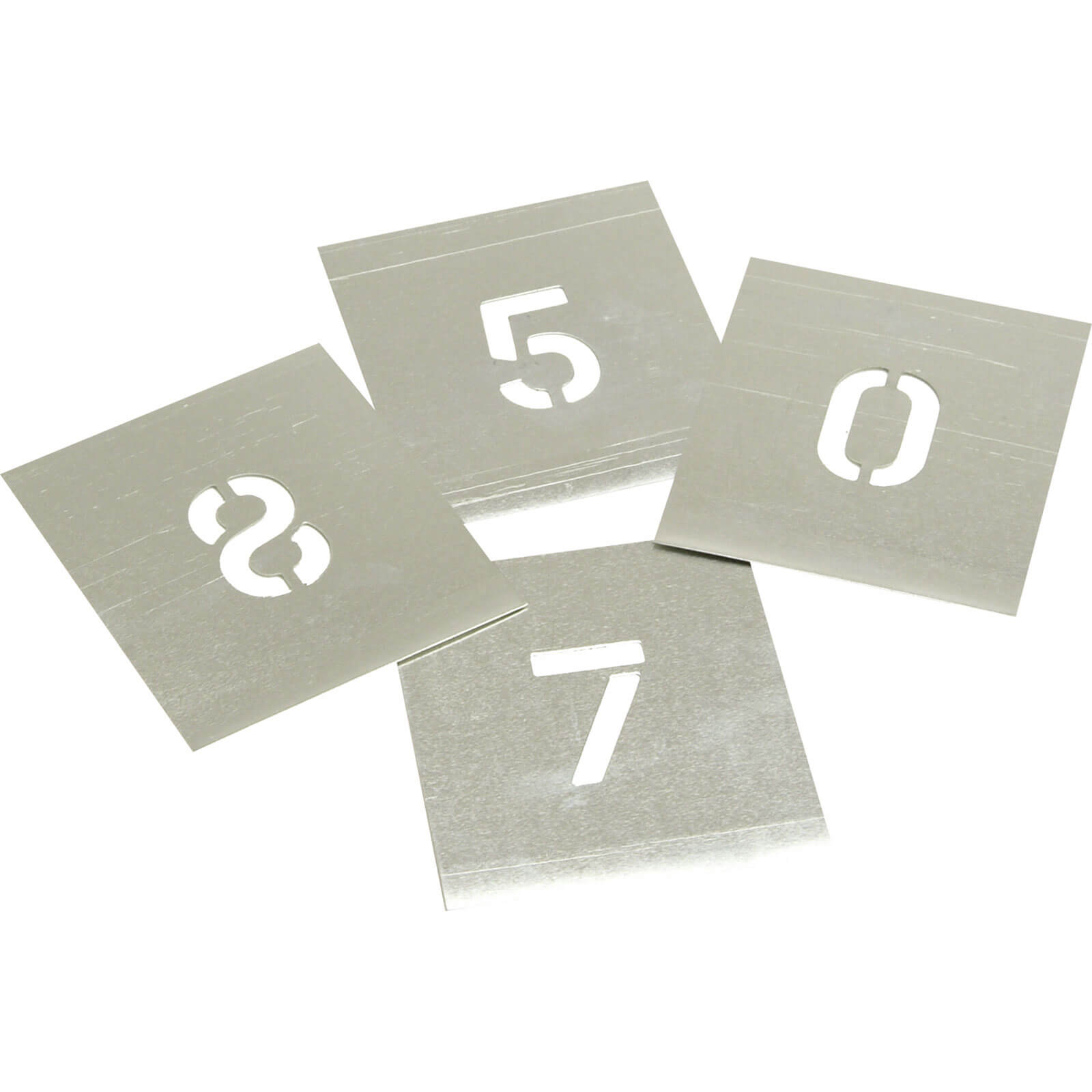 "Image of Stencils 8 Piece Zinc Number Stencil Set 1"""