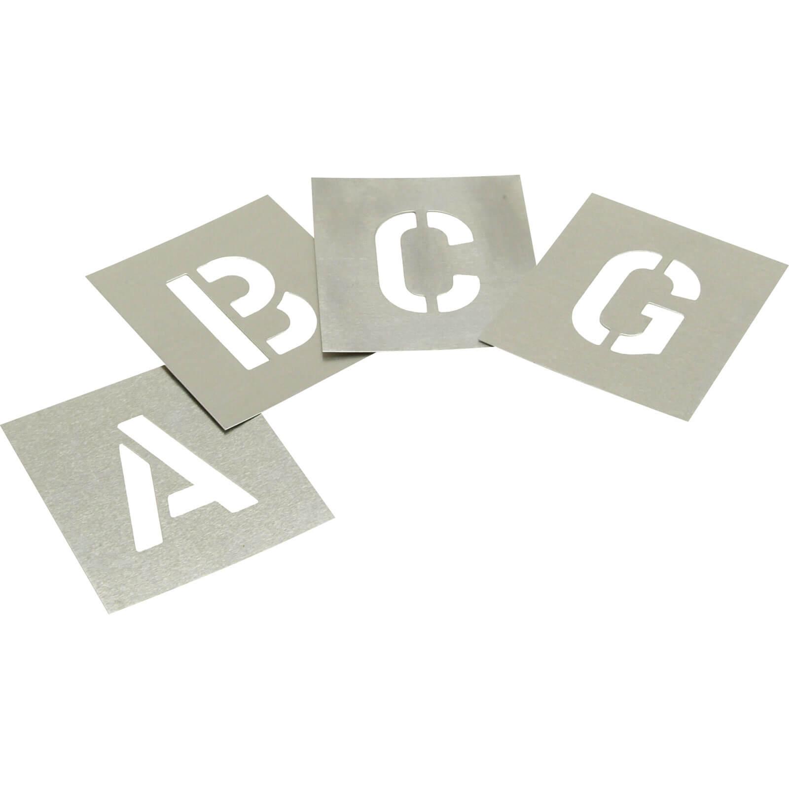 """Image of Stencils 27 Piece Zinc Letter Stencil Set 1"""""""