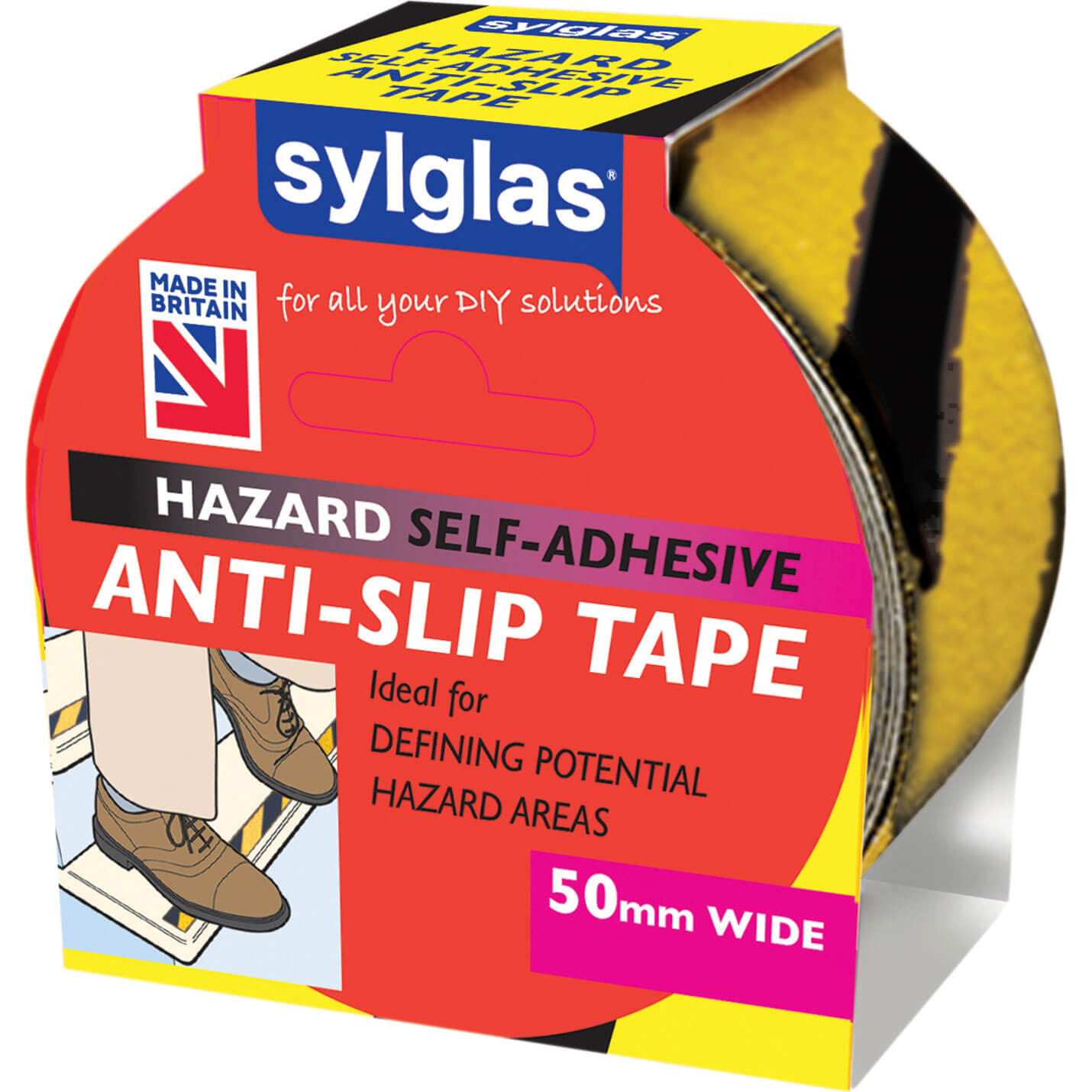Image of Sylglas Anti SlipTape Black / Yellow 50mm 18m