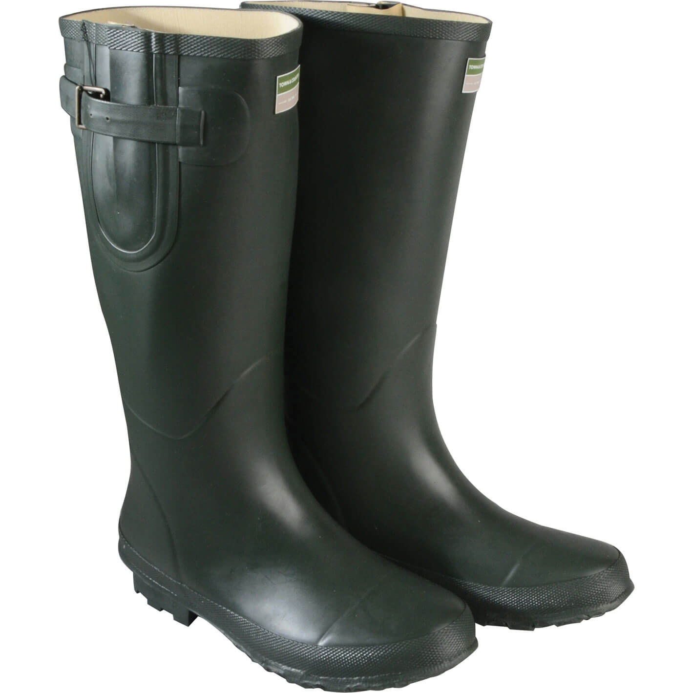 Image of Town & Country Bosworth Wellington Boots Green Size 10