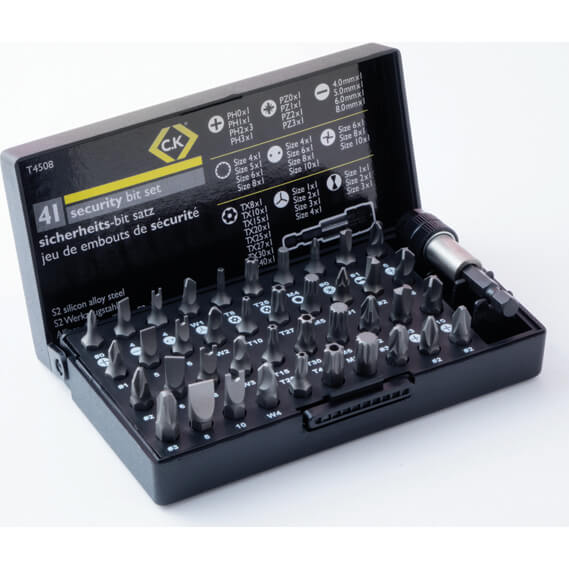 Image of CK 41 Piece S2 Security Screwdriver Bit Set