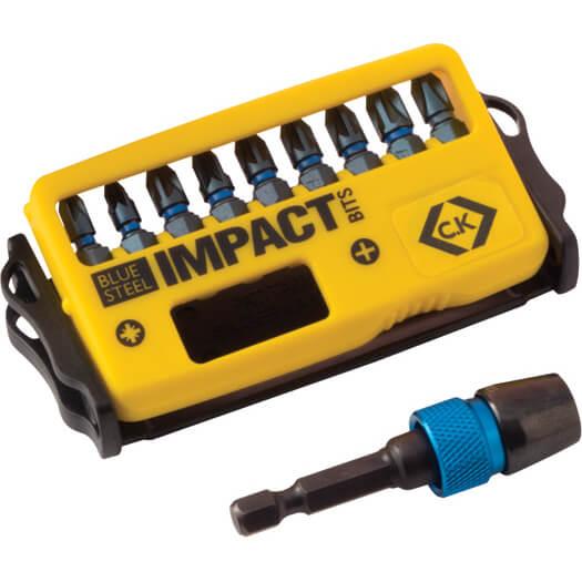 Image of CK Blue Steel 10 Piece Impact Screwdriver Bit Set