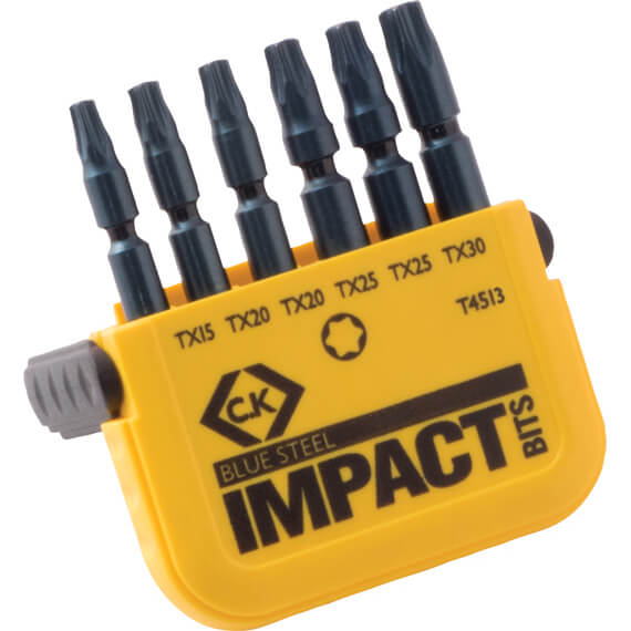 Image of CK Blue Steel 6 Piece Impact Torx Screwdriver Bit Set