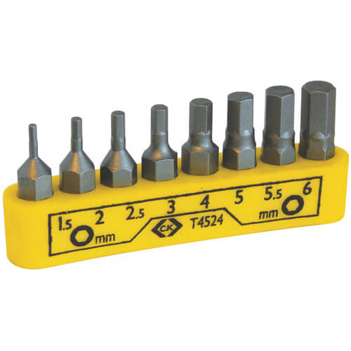 Image of CK 8 Piece Hexagon Screwdriver Bit Set