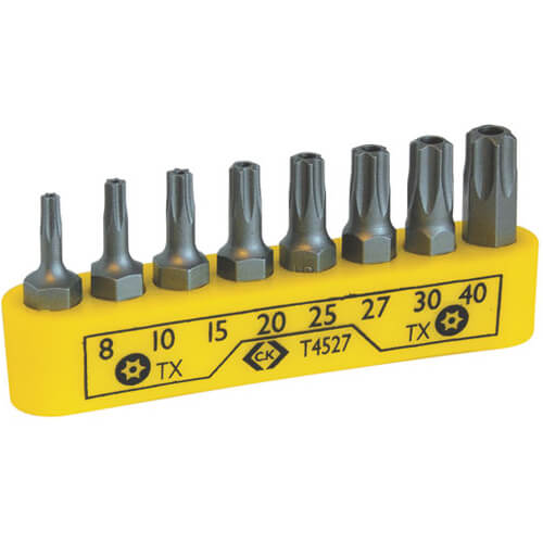 Image of CK 8 Piece Security Torx Screwdriver Bit Set