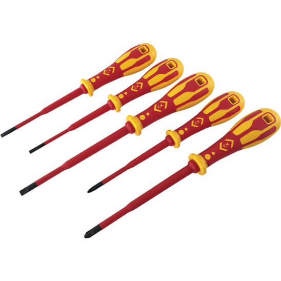 Click to view product details and reviews for Ck 5 Piece Dextro Vde Insulated Slim Screwdriver Set.