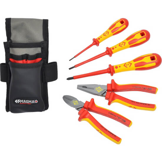 Click to view product details and reviews for Ck 5 Piece Vde Insulated Electricians Tool Kit.