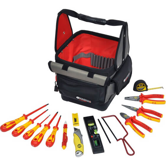 Image of CK 14 Piece VDE Insulated Electricians Tool Kit