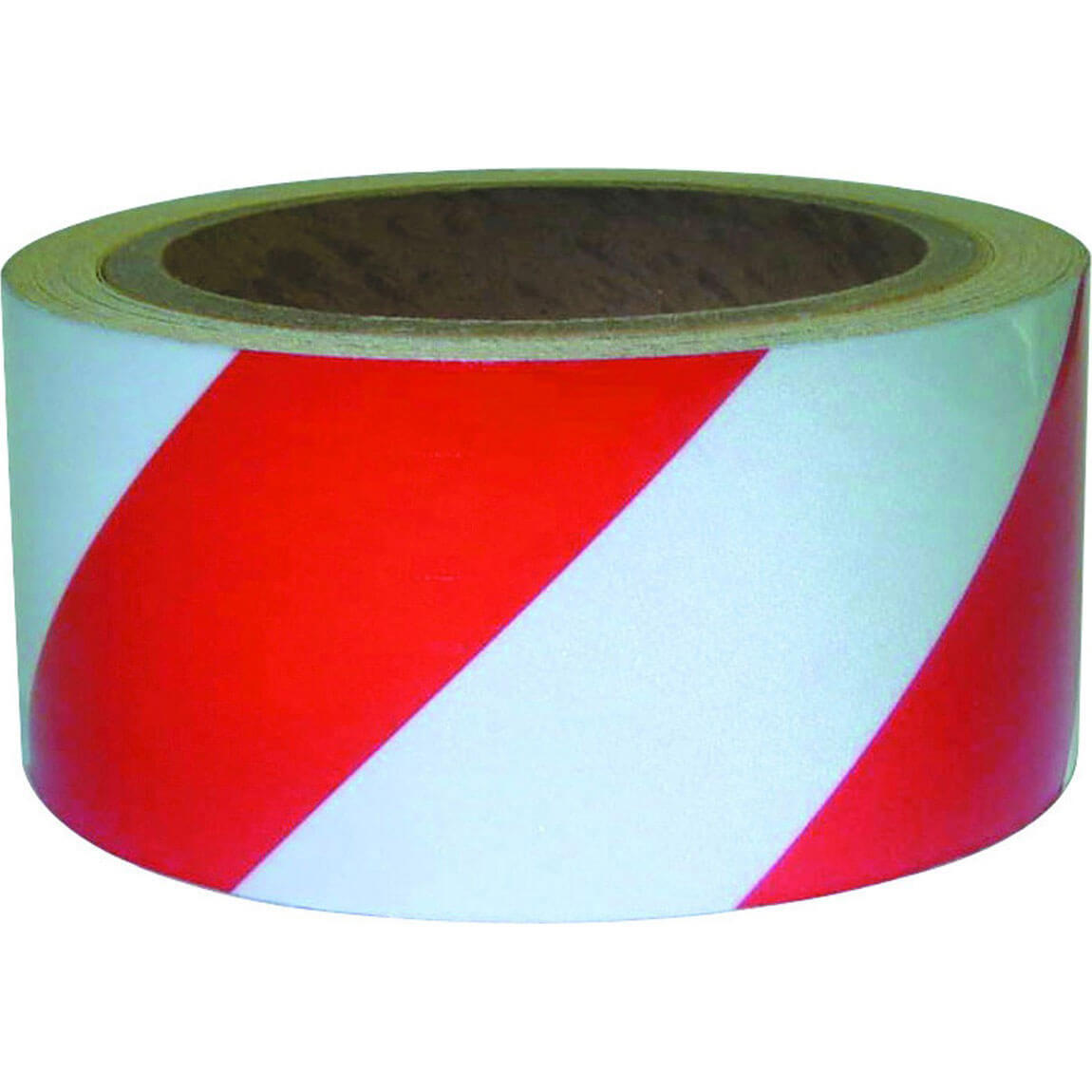 Image of Sirius Adhesive Hazard Warning Tape Red / White 50mm 33m