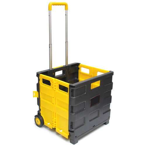 Image of Folding Boots Box Lift Truck Trolley 25kg