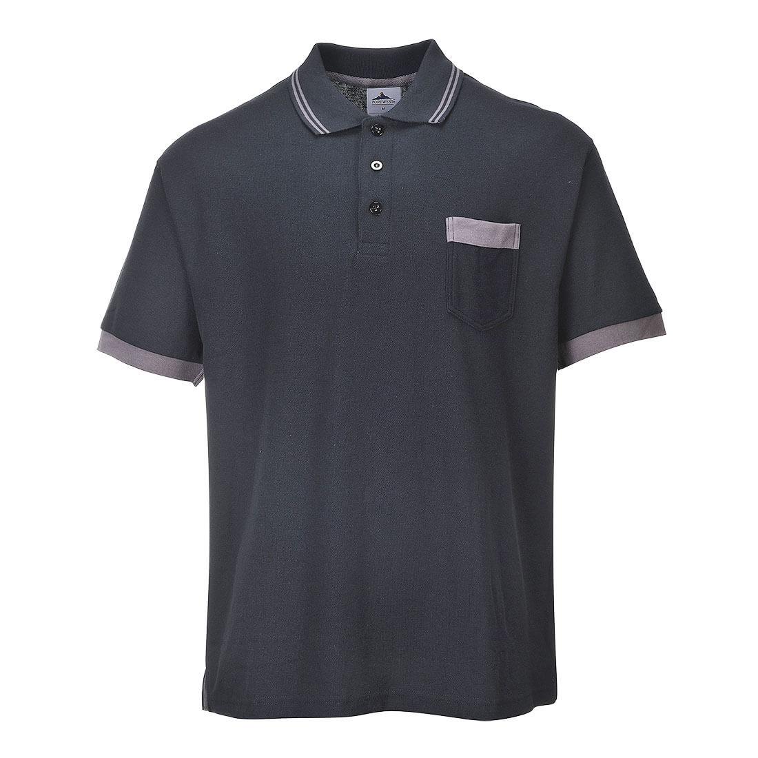 Portwest Mens Texo Contrast Polo Shirt Black M
