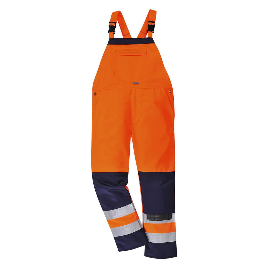 Portwest Girona Hi Vis Bib & Brace Orange / Navy L