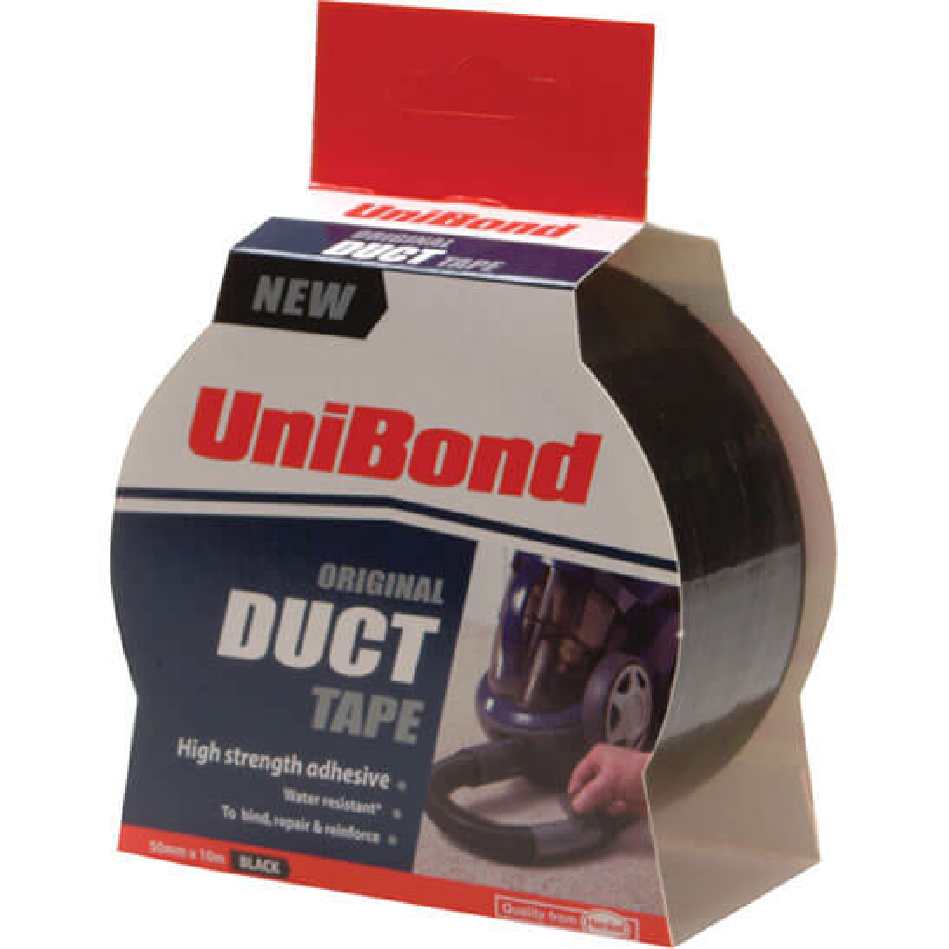 Image of Unibond Duct Tape Black 50mm 25m