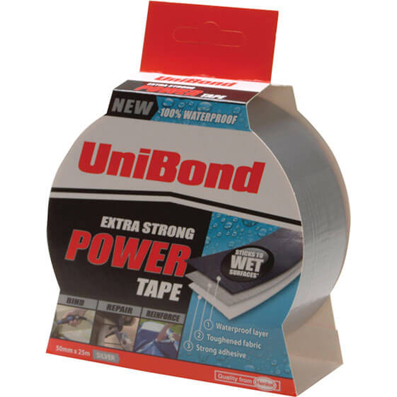 Image of Unibond Extra Strong Power Tape Silver 50mm 25m