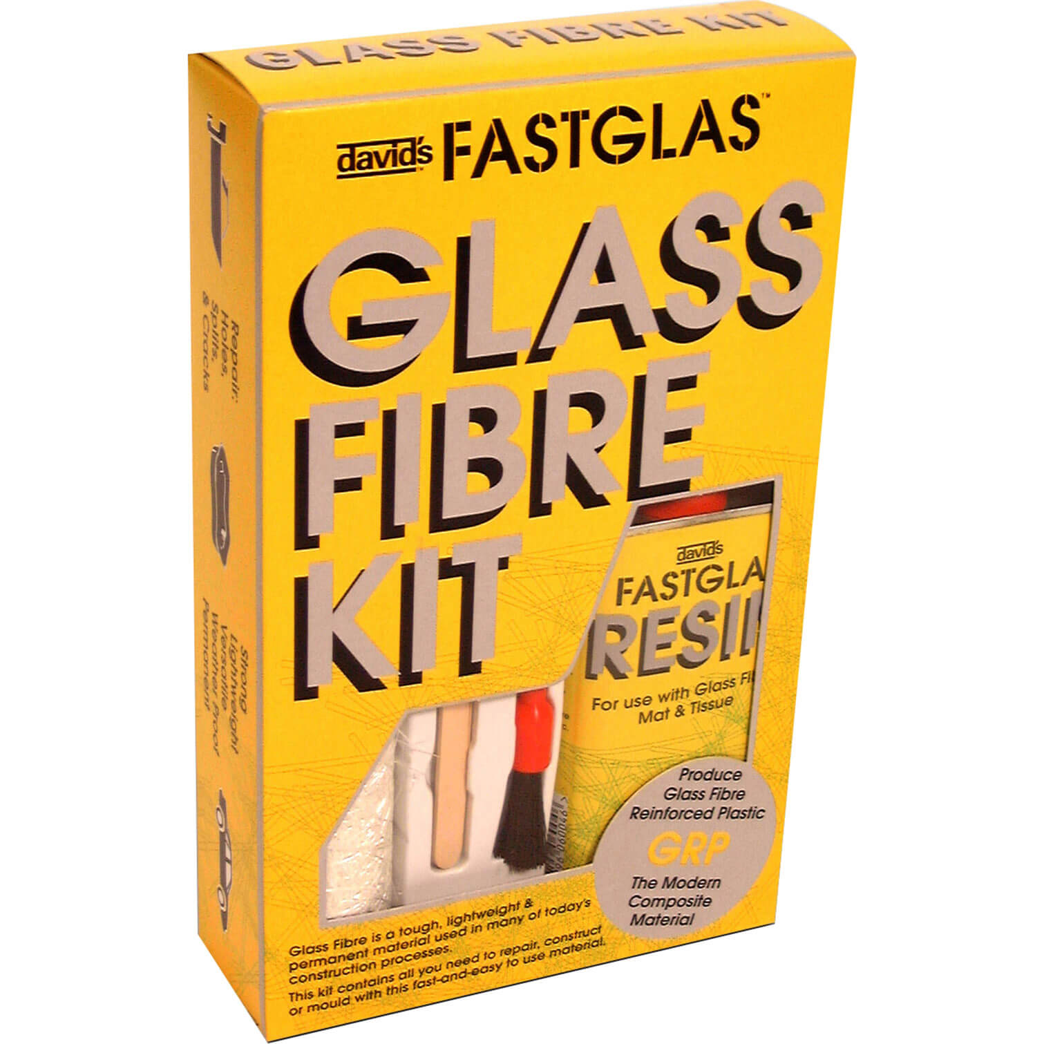 Image of UPO Fastglas Resin & Glass Fibre Kit S