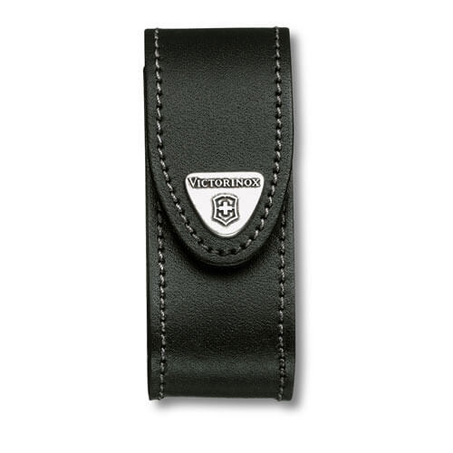 Image of Victorinox Black Leather Pouch Fits 2-4 Layer Swiss Army Knives