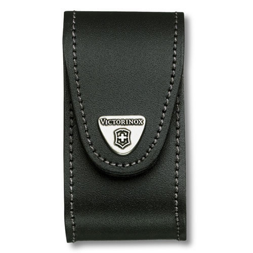 Image of Victorinox Black Leather Pouch Fits 5-8 Layer Swiss Army Knives