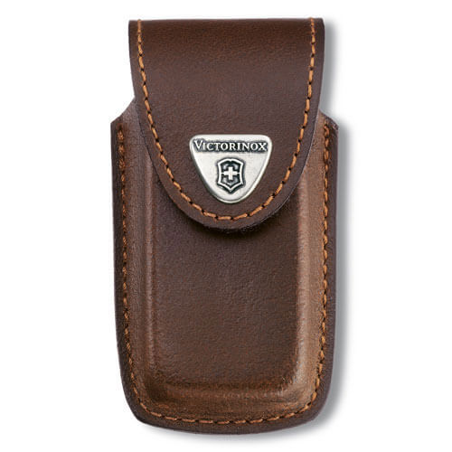 Image of Victorinox Brown Leather Pouch Fits 5-8 Layer Swiss Army Knives