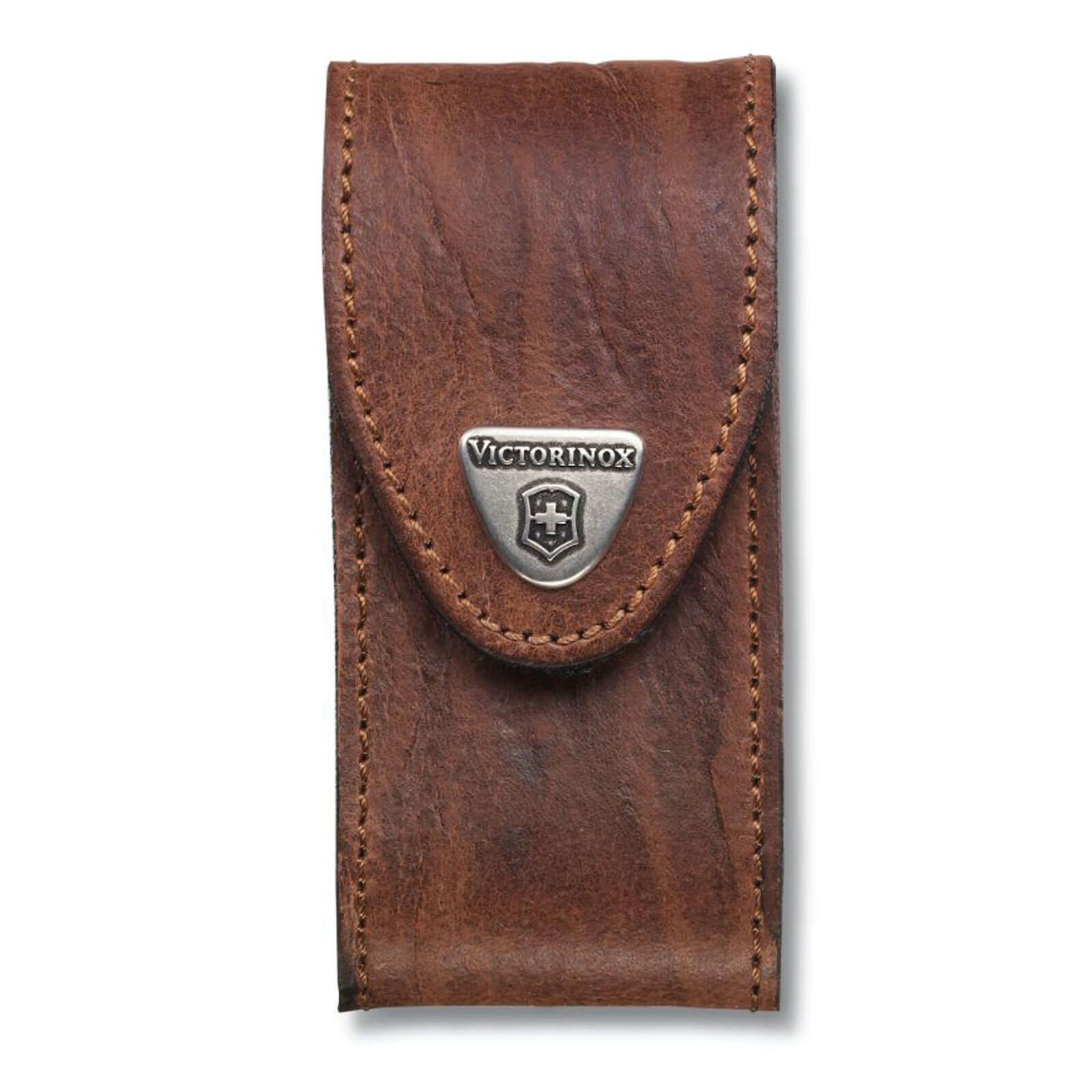 Image of Victorinox Brown Leather Belt Pouch 5-8 Layer Swiss Army Knives