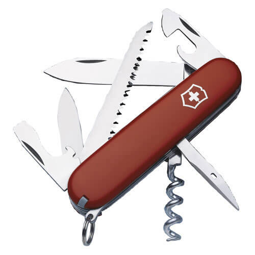 Image of Victorinox Camper Swiss Army Knife Red