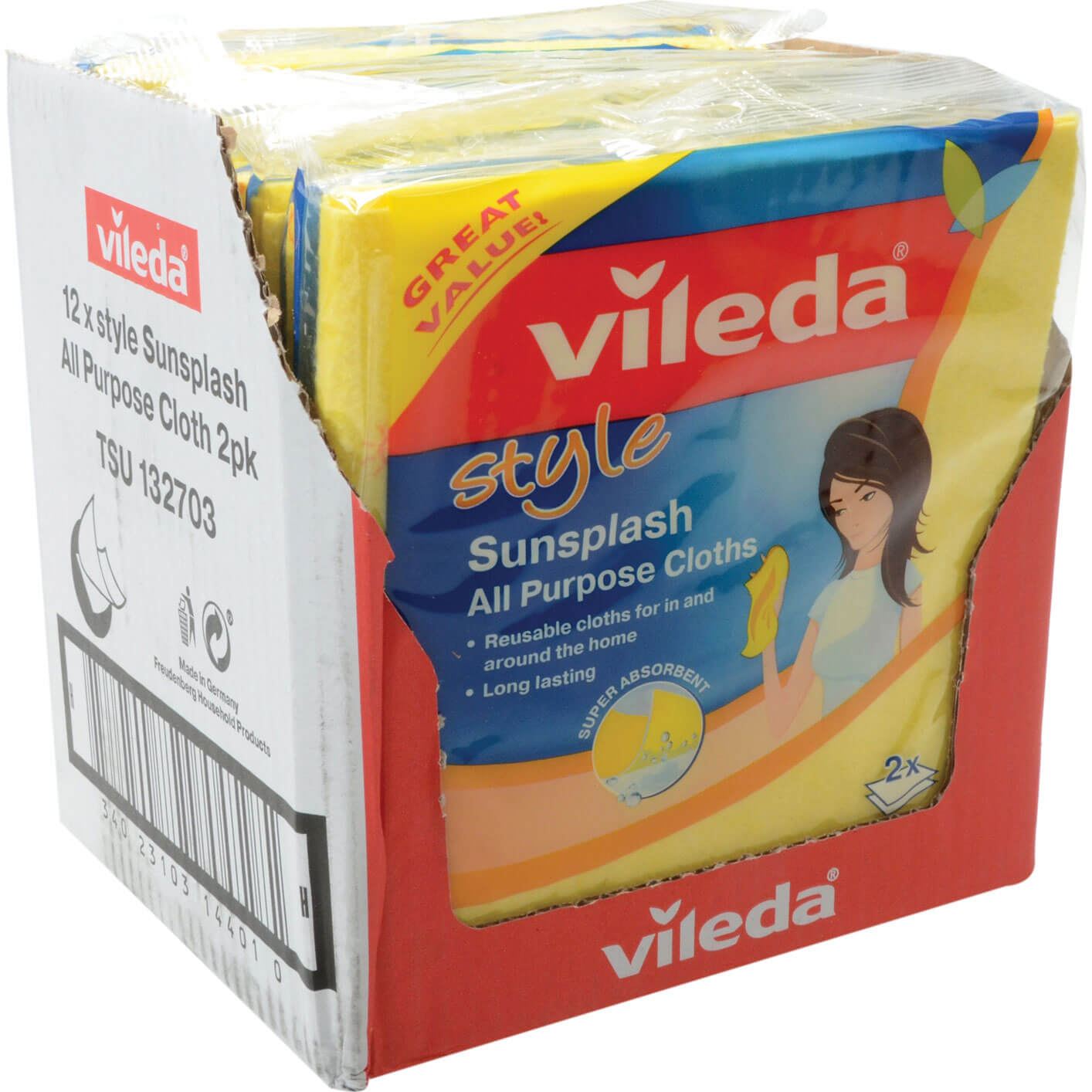 Image of Vileda All Purpose Cleaning Cloths