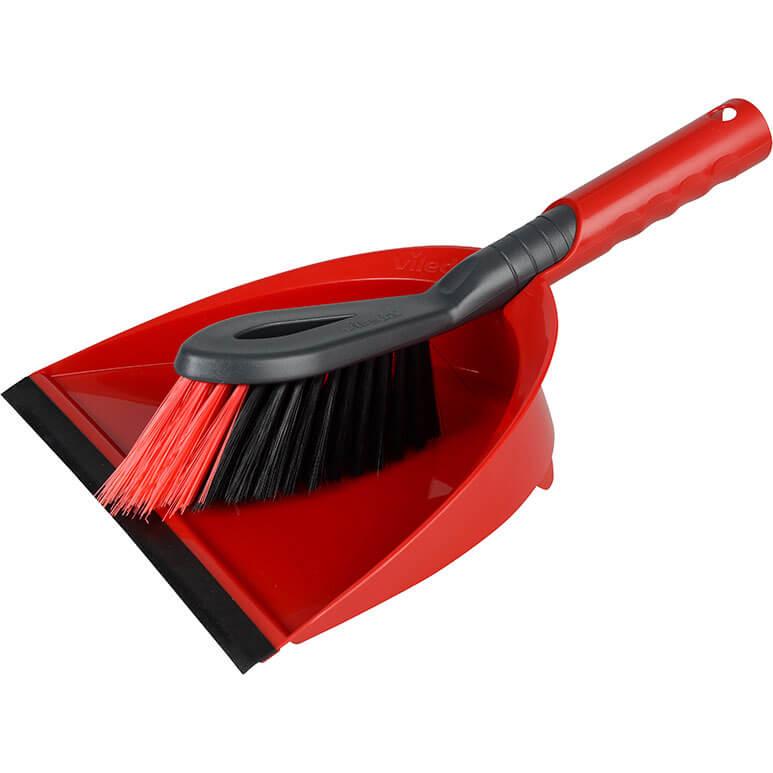 Image of Vileda 2 In 1 Dustpan & Brush Set