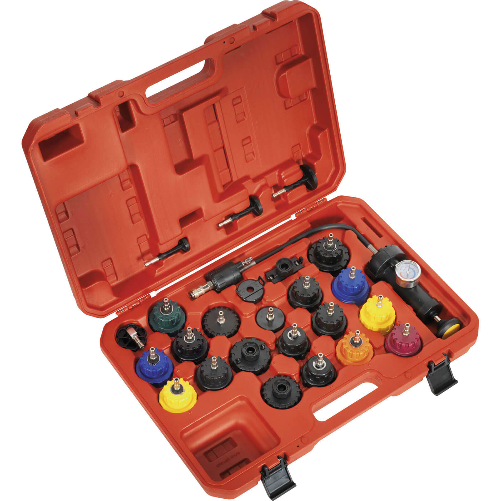 Image of Sealey 25 Piece Automotive Cooling System Pressure Test Kit
