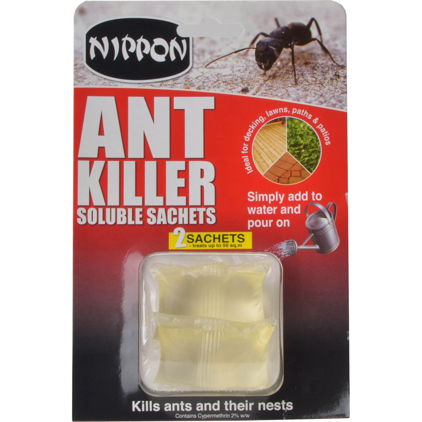 Image of Vitax Nippon Ant Killer in Concentrated Soluble Sachet Pack of 2